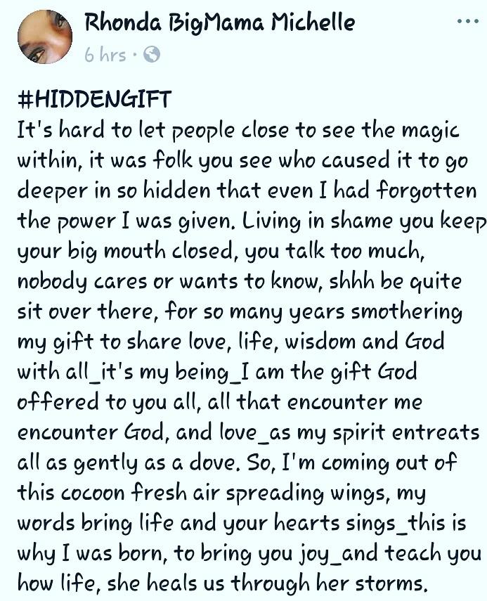 An awakening to a gift long forgotten